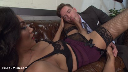 Photo number 12 from Devastatingly Gorgeous Secretary Punishes Sexist Boss Pig! shot for TS Seduction on Kink.com. Featuring Yasmin Lee and Lucas Knight in hardcore BDSM & Fetish porn.