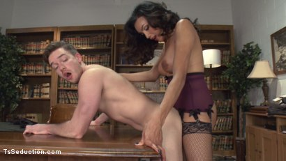 Photo number 7 from Devastatingly Gorgeous Secretary Punishes Sexist Boss Pig! shot for TS Seduction on Kink.com. Featuring Yasmin Lee and Lucas Knight in hardcore BDSM & Fetish porn.