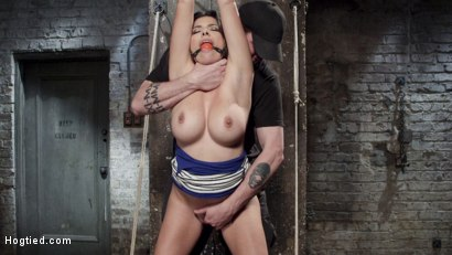 Photo number 3 from Helpless Squirting Slut shot for Hogtied on Kink.com. Featuring Danica Dillon in hardcore BDSM & Fetish porn.