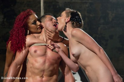 Photo number 15 from Like A Rat In A Cage shot for Divine Bitches on Kink.com. Featuring Daisy Ducati, Mona Wales and Alejandro in hardcore BDSM & Fetish porn.