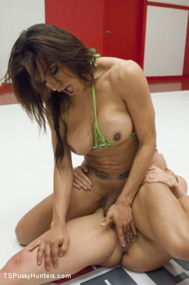Photo number 3 from Ultimate Sex Fight Championship Bout! Winner fucks Loser Any WAY! shot for TS Pussy Hunters on Kink.com. Featuring Jessy Dubai and Holly Heart in hardcore BDSM & Fetish porn.