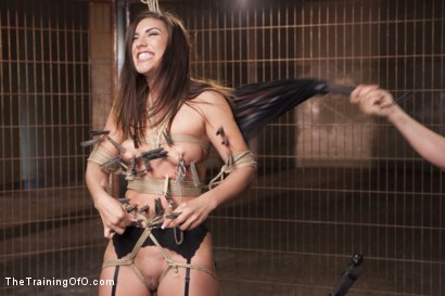 Photo number 3 from Assessing Rilynn Rae, Day One shot for The Training Of O on Kink.com. Featuring Rilynn Rae and Mr. Pete in hardcore BDSM & Fetish porn.