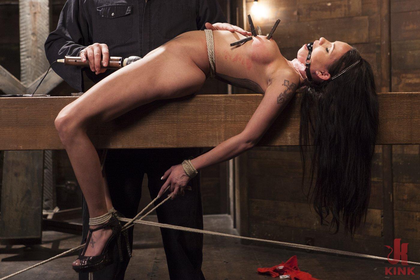 Photo number 10 from Big tit Brunette caught in brutal bondage. shot for Hogtied on Kink.com. Featuring Sgt. Major and Raven Bay in hardcore BDSM & Fetish porn.