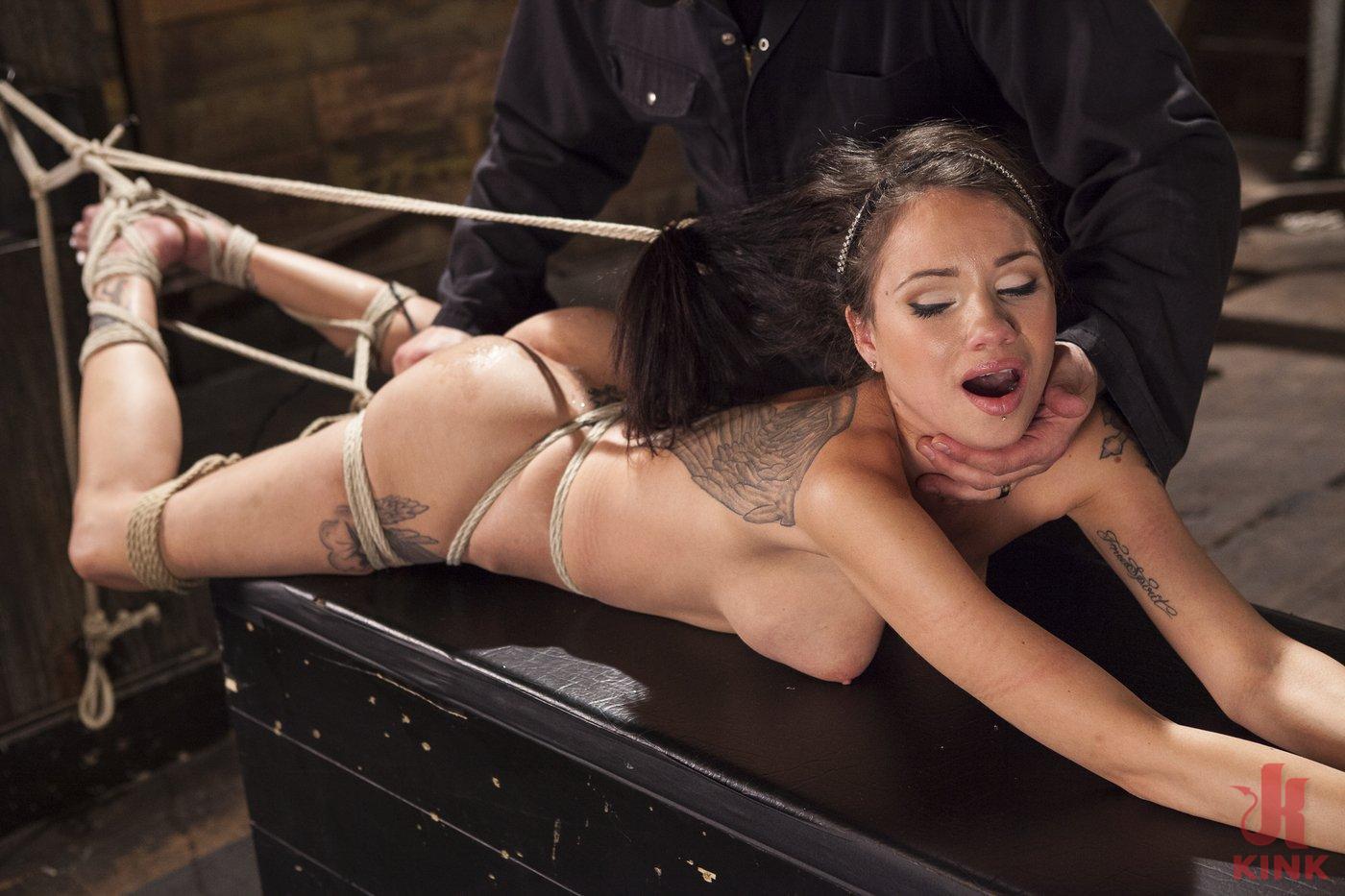 Photo number 11 from Big tit Brunette caught in brutal bondage. shot for Hogtied on Kink.com. Featuring Sgt. Major and Raven Bay in hardcore BDSM & Fetish porn.