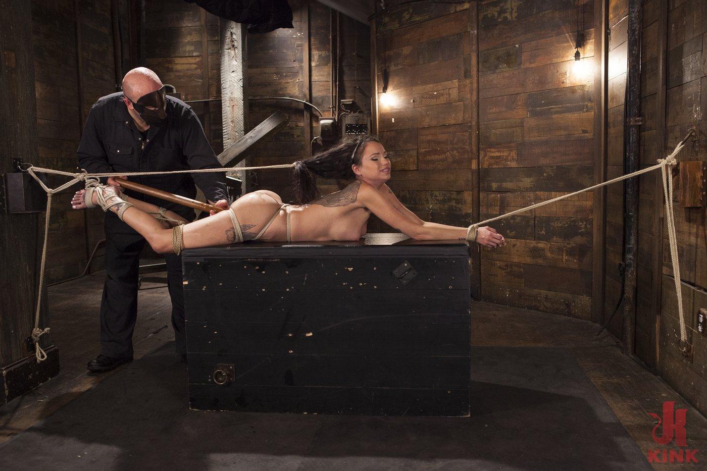 Photo number 12 from Big tit Brunette caught in brutal bondage. shot for Hogtied on Kink.com. Featuring Sgt. Major and Raven Bay in hardcore BDSM & Fetish porn.