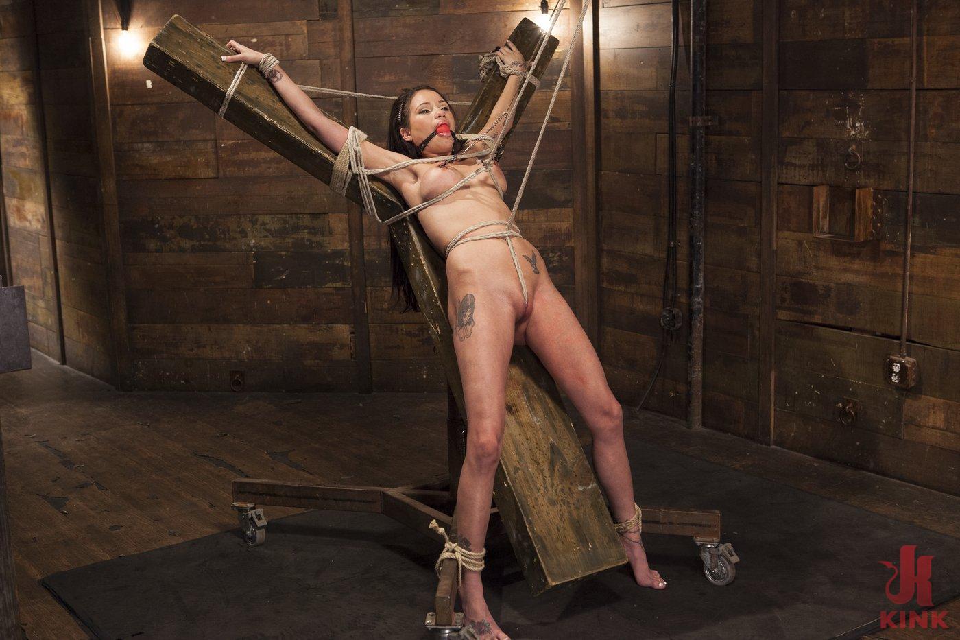 Photo number 13 from Big tit Brunette caught in brutal bondage. shot for Hogtied on Kink.com. Featuring Sgt. Major and Raven Bay in hardcore BDSM & Fetish porn.