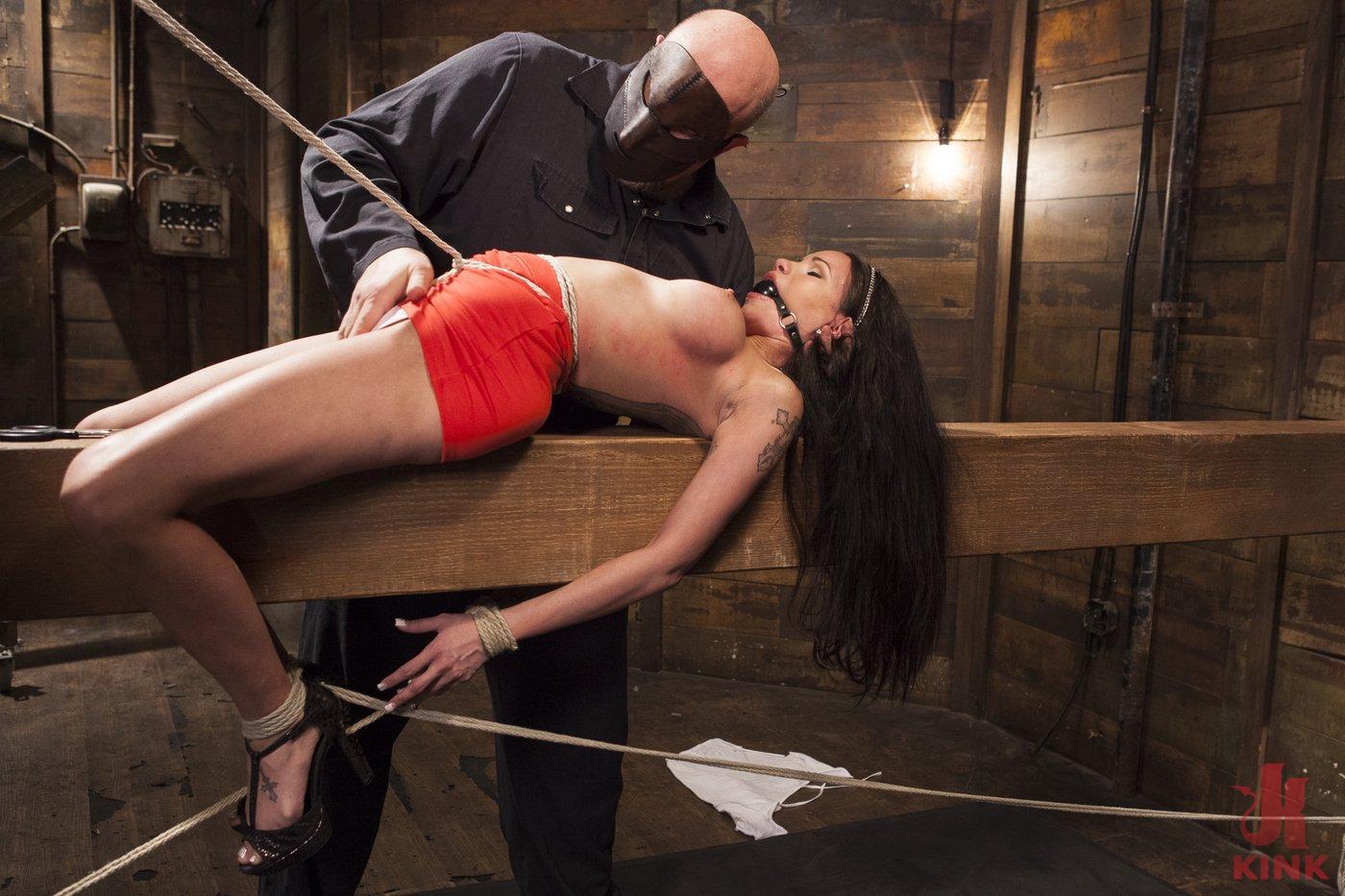 Photo number 3 from Big tit Brunette caught in brutal bondage. shot for Hogtied on Kink.com. Featuring Sgt. Major and Raven Bay in hardcore BDSM & Fetish porn.