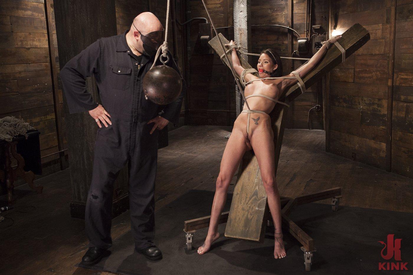 Photo number 5 from Big tit Brunette caught in brutal bondage. shot for Hogtied on Kink.com. Featuring Sgt. Major and Raven Bay in hardcore BDSM & Fetish porn.