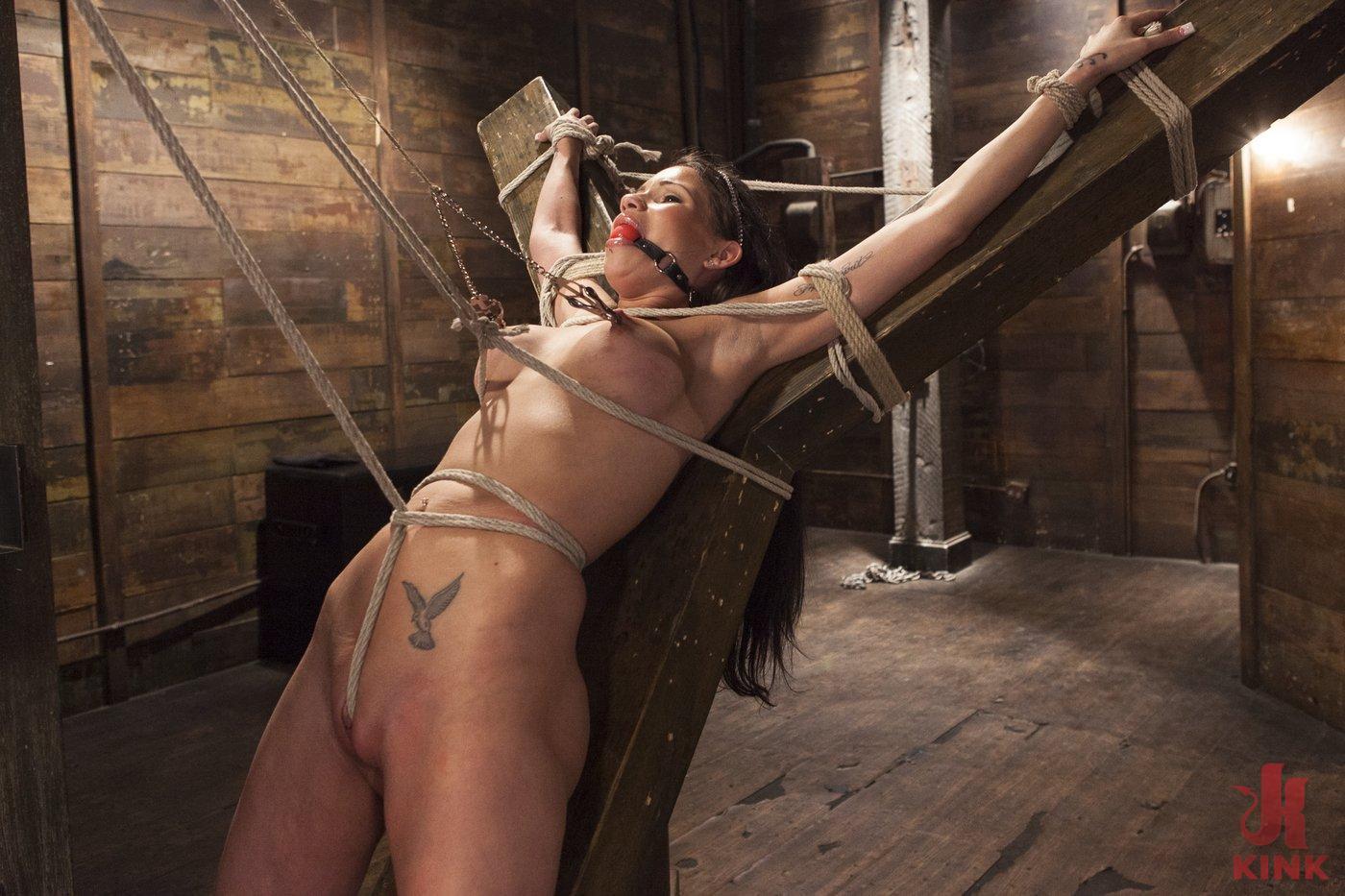 Photo number 6 from Big tit Brunette caught in brutal bondage. shot for Hogtied on Kink.com. Featuring Sgt. Major and Raven Bay in hardcore BDSM & Fetish porn.