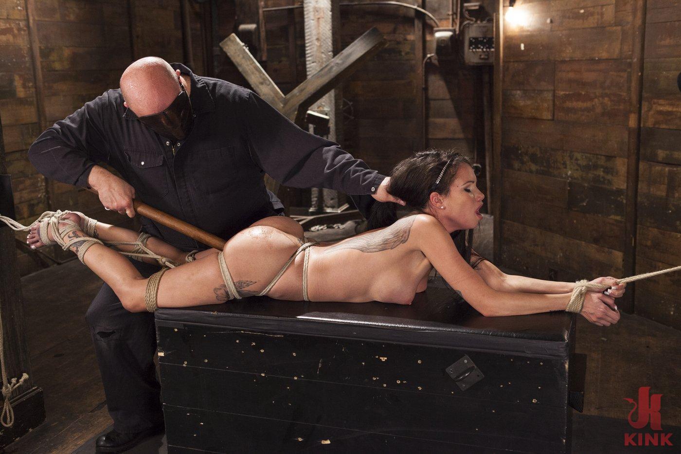 Photo number 7 from Big tit Brunette caught in brutal bondage. shot for Hogtied on Kink.com. Featuring Sgt. Major and Raven Bay in hardcore BDSM & Fetish porn.