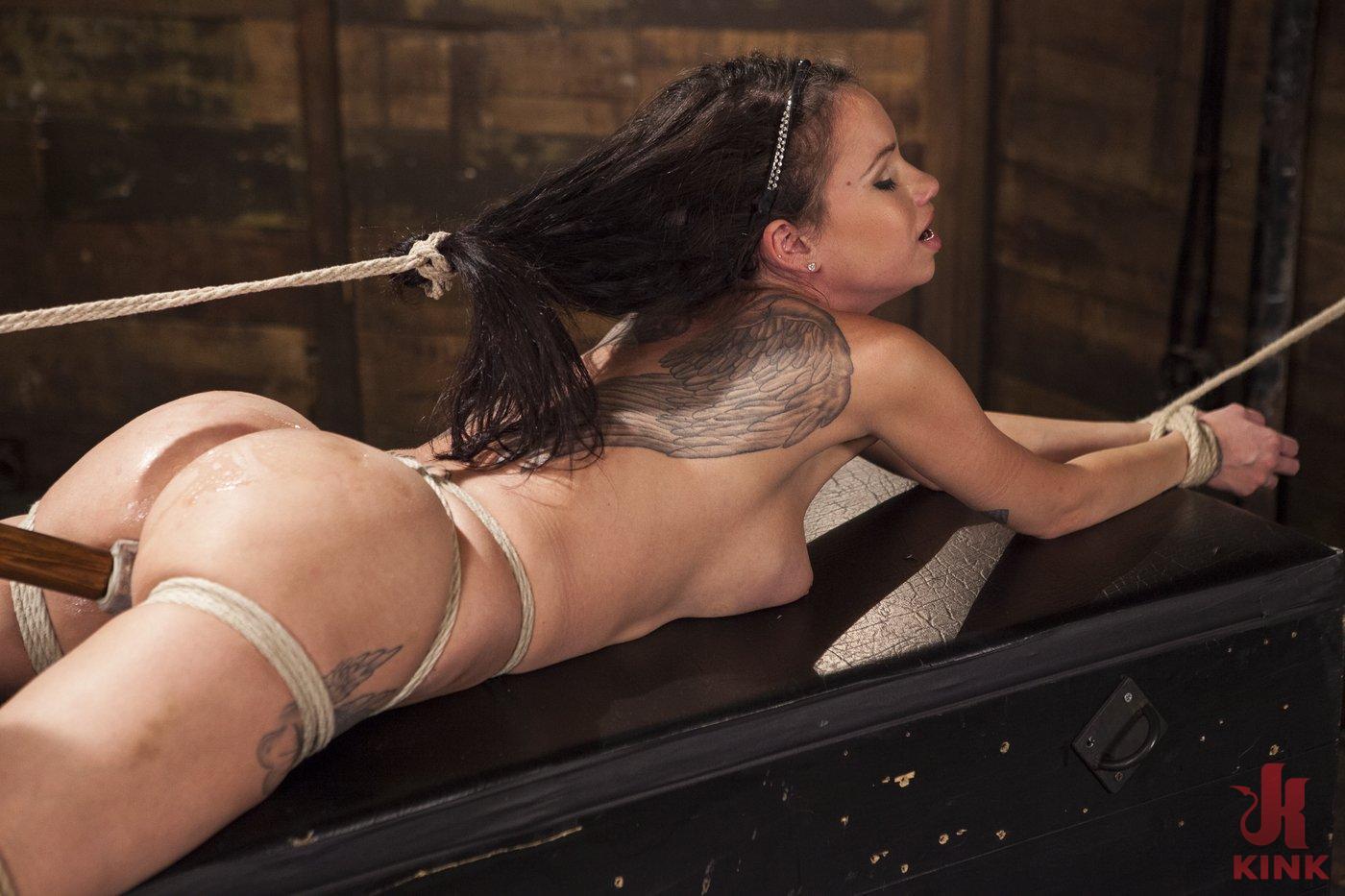 Photo number 8 from Big tit Brunette caught in brutal bondage. shot for Hogtied on Kink.com. Featuring Sgt. Major and Raven Bay in hardcore BDSM & Fetish porn.