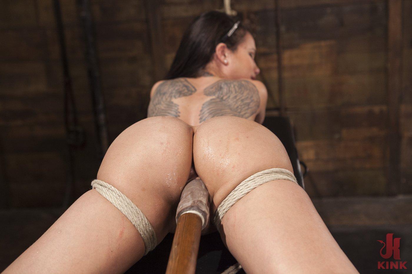 Photo number 9 from Big tit Brunette caught in brutal bondage. shot for Hogtied on Kink.com. Featuring Sgt. Major and Raven Bay in hardcore BDSM & Fetish porn.