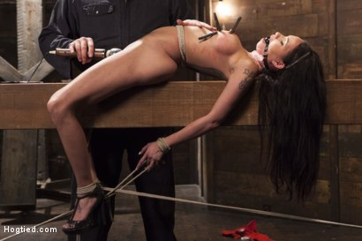 Photo number 10 from Big tit Brunette caught in brutal bondage. shot for Hogtied on Kink.com. Featuring Sgt. Major and Raven Bay in hardcore BDSM & Fetish porn.