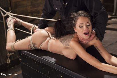 Photo number 11 from Big tit Brunette caught in brutal bondage. shot for Hogtied on Kink.com. Featuring Sgt. Major and Raven Bay in hardcore BDSM & Fetish porn.