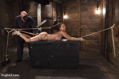 Photo number 12 from Big tit Brunette caught in brutal bondage. shot for Hogtied on Kink.com. Featuring Sgt. Major and Raven Bay in hardcore BDSM & Fetish porn.