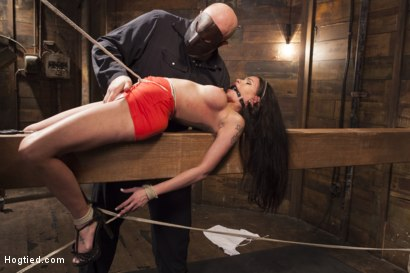 Photo number 3 from Big tit Brunette caught in brutal bondage. shot for Hogtied on Kink.com. Featuring Sgt. Major and Raven Bay in hardcore BDSM & Fetish porn.