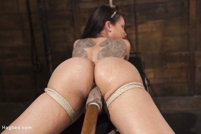 Photo number 9 from Big tit Brunette caught in brutal bondage. shot for Hogtied on Kink.com. Featuring Sgt. Major and Raven Bay in hardcore BDSM & Fetish porn.