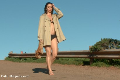 Photo number 1 from Wenona's Ordeal: Beautiful Slave's Public Humiliation in San Francisco shot for Public Disgrace on Kink.com. Featuring John Strong and Wenona in hardcore BDSM & Fetish porn.