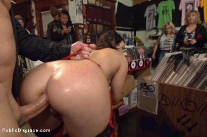 Photo number 13 from Wenona's Ordeal: Beautiful Slave's Public Humiliation in San Francisco shot for Public Disgrace on Kink.com. Featuring John Strong and Wenona in hardcore BDSM & Fetish porn.