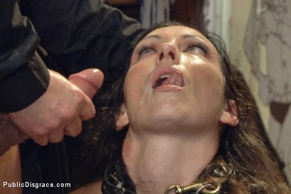 Photo number 16 from Wenona's Ordeal: Beautiful Slave's Public Humiliation in San Francisco shot for Public Disgrace on Kink.com. Featuring John Strong and Wenona in hardcore BDSM & Fetish porn.