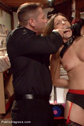 Photo number 18 from Wenona's Ordeal: Beautiful Slave's Public Humiliation in San Francisco shot for Public Disgrace on Kink.com. Featuring John Strong and Wenona in hardcore BDSM & Fetish porn.