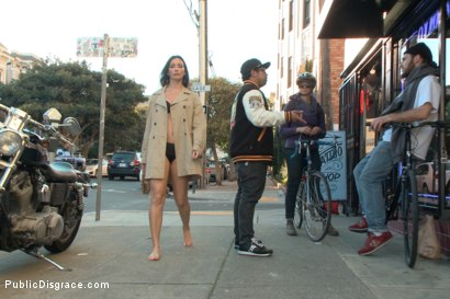 Photo number 3 from Wenona's Ordeal: Beautiful Slave's Public Humiliation in San Francisco shot for Public Disgrace on Kink.com. Featuring John Strong and Wenona in hardcore BDSM & Fetish porn.