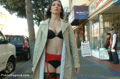 Photo number 8 from Wenona's Ordeal: Beautiful Slave's Public Humiliation in San Francisco shot for Public Disgrace on Kink.com. Featuring John Strong and Wenona in hardcore BDSM & Fetish porn.