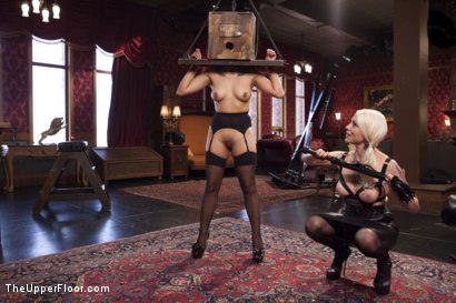 Photo number 1 from Bossy Bitch Governess, the Slave Girl and the Butler shot for The Upper Floor on Kink.com. Featuring Bill Bailey, Lorelei Lee and Adley Rose in hardcore BDSM & Fetish porn.