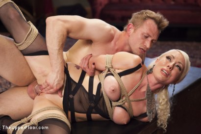 Photo number 12 from Bossy Bitch Governess, the Slave Girl and the Butler shot for The Upper Floor on Kink.com. Featuring Bill Bailey, Lorelei Lee and Adley Rose in hardcore BDSM & Fetish porn.