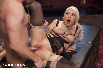 Photo number 9 from Bossy Bitch Governess, the Slave Girl and the Butler shot for The Upper Floor on Kink.com. Featuring Bill Bailey, Lorelei Lee and Adley Rose in hardcore BDSM & Fetish porn.