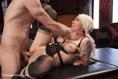 Photo number 10 from Bossy Bitch Governess, the Slave Girl and the Butler shot for The Upper Floor on Kink.com. Featuring Bill Bailey, Lorelei Lee and Adley Rose in hardcore BDSM & Fetish porn.