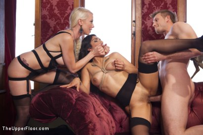 Photo number 7 from Bossy Bitch Governess, the Slave Girl and the Butler shot for The Upper Floor on Kink.com. Featuring Bill Bailey, Lorelei Lee and Adley Rose in hardcore BDSM & Fetish porn.