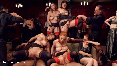 Photo number 7 from Hardcore Anal Celebration of Sexual Service shot for The Upper Floor on Kink.com. Featuring Ashley Adams, Seth Gamble, Bella Rossi, Siouxsie Q, Mickey Mod and Penny Pax in hardcore BDSM & Fetish porn.