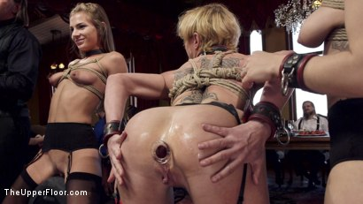 Photo number 10 from Disorderly Anal Slaves Disciplined  shot for The Upper Floor on Kink.com. Featuring Gabriella Paltrova, Karlo Karrera, Sydney Cole and Dee Williams in hardcore BDSM & Fetish porn.