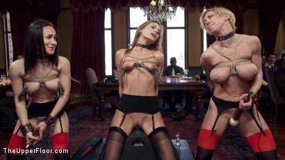Photo number 11 from Disorderly Anal Slaves Disciplined  shot for The Upper Floor on Kink.com. Featuring Gabriella Paltrova, Karlo Karrera, Sydney Cole and Dee Williams in hardcore BDSM & Fetish porn.