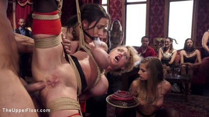 Photo number 9 from Disorderly Anal Slaves Disciplined  shot for The Upper Floor on Kink.com. Featuring Gabriella Paltrova, Karlo Karrera, Sydney Cole and Dee Williams in hardcore BDSM & Fetish porn.