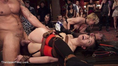 Photo number 13 from Disorderly Anal Slaves Disciplined  shot for The Upper Floor on Kink.com. Featuring Gabriella Paltrova, Karlo Karrera, Sydney Cole and Dee Williams in hardcore BDSM & Fetish porn.
