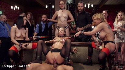 Photo number 16 from Disorderly Anal Slaves Disciplined  shot for The Upper Floor on Kink.com. Featuring Gabriella Paltrova, Karlo Karrera, Sydney Cole and Dee Williams in hardcore BDSM & Fetish porn.
