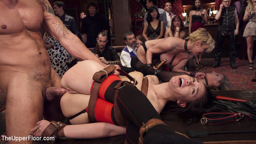 Mistress preparing slaves body for action in the bed 7