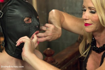 Photo number 14 from Mrs. S cuckolds her slave with big black alpha cock! shot for Divine Bitches on Kink.com. Featuring Simone Sonay, Jay Wimp and Jason Brown in hardcore BDSM & Fetish porn.