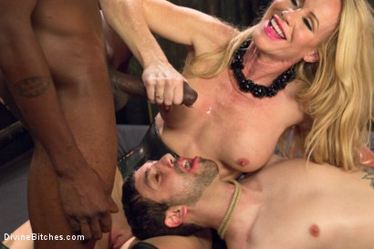 Photo number 8 from Mrs. S cuckolds her slave with big black alpha cock! shot for Divine Bitches on Kink.com. Featuring Simone Sonay, Jay Wimp and Jason Brown in hardcore BDSM & Fetish porn.