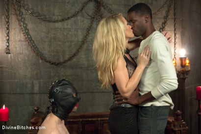 Photo number 10 from Mrs. S cuckolds her slave with big black alpha cock! shot for Divine Bitches on Kink.com. Featuring Simone Sonay, Jay Wimp and Jason Brown in hardcore BDSM & Fetish porn.