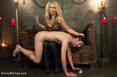 Photo number 2 from Mrs. S cuckolds her slave with big black alpha cock! shot for Divine Bitches on Kink.com. Featuring Simone Sonay, Jay Wimp and Jason Brown in hardcore BDSM & Fetish porn.