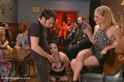 Photo number 3 from Slutty Veruca Publicly Shamed and Fucked Hard in Crowded Bar shot for publicdisgrace on Kink.com. Featuring Veruca James and Tommy Pistol in hardcore BDSM & Fetish porn.