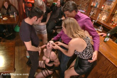 Photo number 6 from Slutty Veruca Publicly Shamed and Fucked Hard in Crowded Bar shot for Public Disgrace on Kink.com. Featuring Veruca James and Tommy Pistol in hardcore BDSM & Fetish porn.