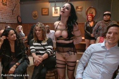 Photo number 8 from Slutty Veruca Publicly Shamed and Fucked Hard in Crowded Bar shot for Public Disgrace on Kink.com. Featuring Veruca James and Tommy Pistol in hardcore BDSM & Fetish porn.