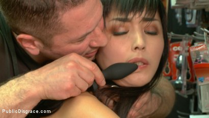 Photo number 4 from Japanese Whore Publicly Fucked in Dirty Movie Theater shot for Public Disgrace on Kink.com. Featuring Marica Hase and John Strong in hardcore BDSM & Fetish porn.