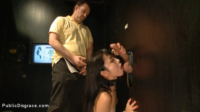 Photo number 9 from Japanese Whore Publicly Fucked in Dirty Movie Theater shot for Public Disgrace on Kink.com. Featuring Marica Hase and John Strong in hardcore BDSM & Fetish porn.