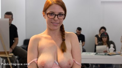 Photo number 3 from Slutty redhead shocks art students by taking giant cock in all holes shot for Public Disgrace on Kink.com. Featuring Penny Pax and Bill Bailey in hardcore BDSM & Fetish porn.