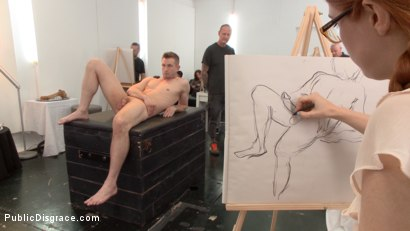 Photo number 4 from Slutty redhead shocks art students by taking giant cock in all holes shot for Public Disgrace on Kink.com. Featuring Penny Pax and Bill Bailey in hardcore BDSM & Fetish porn.